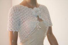 Wedding Bridal Bolero Shrug Lace Crochet Shrug Boleros White by GABRIELAFAUR on Etsy https://www.etsy.com/listing/236191204/wedding-bridal-bolero-shrug-lace-crochet