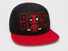 Deadpool Pixel Snapback Hat - You will look like the ultimate talkative anti-hero when you wear this officially licensed Deadpool Pixel Snapback Hat! The back hat features a Lego Hat, Custom Lego, Snapback Hats, Crafts, Manualidades, Handmade Crafts, Craft, Arts And Crafts