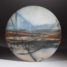New work Nov 2014 'Double Lined Sweep' Wall Disc 26 cm x 2 cm