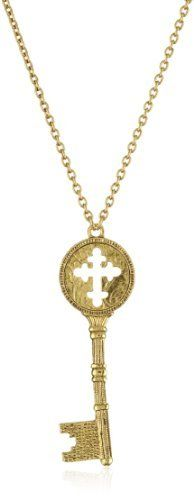 The Vatican Library Collection Kingdom Gold Holy Cross Key Necklace The Vatican Library Collection. $28.00 Pendant Jewelry, Jewelry Necklaces, Pendant Necklace, Key Necklace, Gold Necklace, Vatican Library, Holy Cross, Pendants, My Style