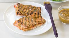 Oh Canada Dry Glaze - Grilled Salmon with Honey Mustard Sauce (Use Chicken Instead)