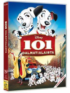 101 dalmatialaista -DVD. Ne ovat veikeitä ja suloisia ja mikä parasta: niitä on 101! Mutta eräänä päivänä kaikki pennut ovat poissa! Ei ole mikään yllätys, että jäljet johtavat häijyyn Cruella de Viliin, joka on aina haaveillut pilkullisesta turkista