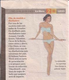 """a272305e81 Jan 2011 La Hora """"Clio, de modelo a disenadora """" Luxury Swimwear, Monokini"""
