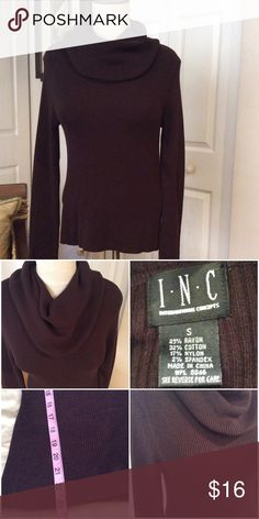 INC Brown Cowl Neck Sweater Excellent Condition, no pilling or fading. INC International Concepts Sweaters Cowl & Turtlenecks