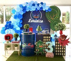 Pj Mask Party Decorations, Festa Pj Masks, Baby Party, 5th Birthday, Birthdays, Ideas, Lucca, Christening Cake Boy, Toddler Boy Birthday