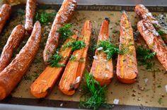 Dill Roasted Carrots & Tzatziki Sauce - Real Food with Dana
