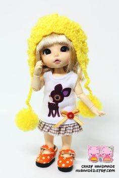 D005 - Lati yellow /pukifee outfits (dress and hat). $9.00, via Etsy.