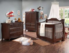 Natart Bella Collection in Cocoa finish  - Natart is a Greenguard Certified manufacturer, Low VOC cribs & furniture - 100% solid wood construction - Made in Canada | Baby & Nursery Furniture