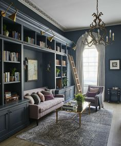 English Home Library Inspiration : Colossal to Cosy - Scene Therapy wohnen Home Library Rooms, Home Library Design, Home Libraries, Home Office Design, Home Interior Design, House Design, Modern Library, Home Study Design, Home Library Decor