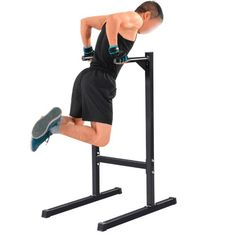 7aeee5a4618 Yaheetech Heavy Duty Dip Stand Parallel Bar Bicep Triceps Home Gym Dipping  Station Dip Bar Power Tower