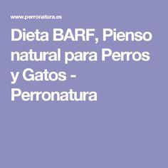 Dieta BARF, Pienso natural para Perros y Gatos - Perronatura