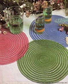 Crochet Kitchen Doilies Arts And Crafts Knitting Rugs Ideas Home Decor Squares Table Scapes Crochet Mandala, Crochet Motif, Crochet Shawl, Crochet Doilies, Filet Crochet, Knit Crochet, Crochet Geek, Crochet Baby, Knitting Patterns