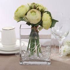Personalized Favors - $24.69 - Personalized Cuboid Glass Vases (118031528) http://jjshouse.com/Personalized-Cuboid-Glass-Vases-118031528-g31528