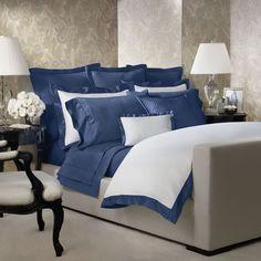 Royal Peacock Langdon Duvet - Enhanced Zoom Navy Bedding, Bedding Sets, Cotton Bedding, Navy Bedspread, Striped Bedding, Green Bedding, King Duvet Cover Sets, Duvet Covers, Comforter Cover