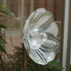 Vintage Repurpose Glass Plate Flower light shade by ARTfulSalvage, $35.00