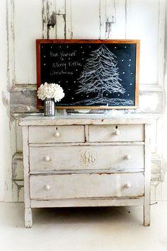 A N T I Q U E School House Christmas by smallVintageAffair on Etsy