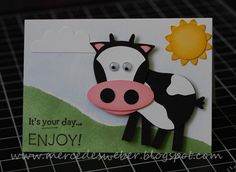 Stampin' Up!  Owl Punch  Mercedes Weber  Cow