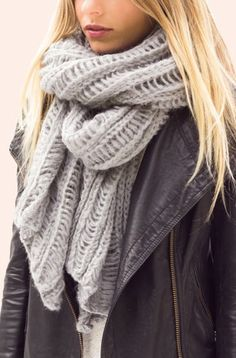 Grey So Cozy Scarf // perfect for winter #wearabledesign