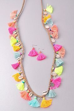 Seaside Summer Tassel Necklace from privityboutique