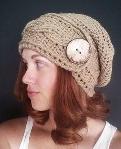 365 Crochet!: Cabled Headband Hat w/big Button -free crochet pattern-