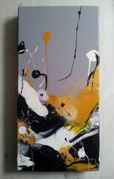 tableau abstrait coloré contemporain -Peinture acrylique au couteau : Peintures par stephanie-bounichou
