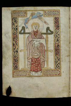 Evangelist portrait of St. Luke in an 8th century manuscript by Virtual Manuscript Library of Switzerland