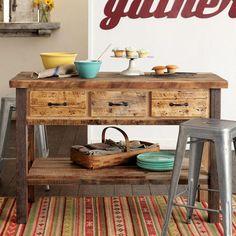 EDISON FACTORY KITCHEN ISLAND - Dining Tables - Furniture - Furniture & Decor | Robert Redford's Sundance Catalog