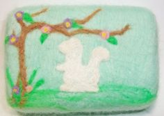 Spring Squirrel Felted Soap by MountainScentament on Etsy, $8.00