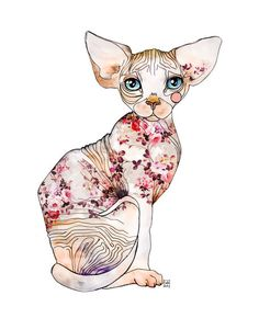 Ederba the sphynx by Sara Ligari on artflakes.com as poster or art print $17.33