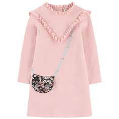 Cotton and polyamide stitch knit Pleasant to the touch Trapeze cut Crew  neck Flounced collar Yoke 05ebe494988d2