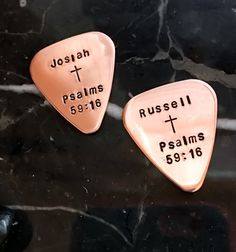 Your Lyric Personalized Guitar Pick  by BlueCornerCreasigns