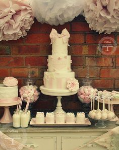 Isabelle's christening desert table | Flickr - Photo Sharing!