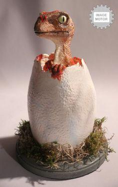 Realistic Egg Hatching Baby Velociraptor