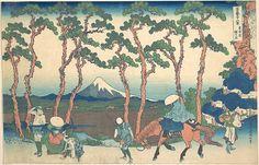 葛飾北斎| 東海道(東海道保土ヶ谷)、富士山(富嶽sanjūrokkei)のシリーズから36個のビューの保土ヶ谷| 日本| 江戸時代(1615年から1868年)| メット