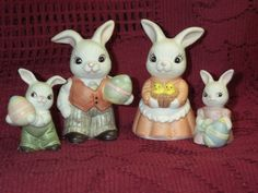 Home Interiors And Gifts, Vintage Easter, Spring Crafts, Bunny Rabbit, Easter Crafts, Easter Bunny, Bears, Thailand, Porcelain