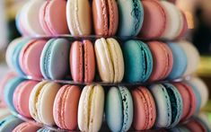Download wallpapers macaroons, sweets, pastries, biscuits, colorful biscuits