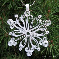 Set of 3 Quilled Snowflake Ornaments