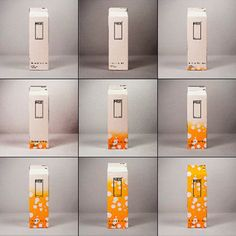 Intelligent milk carton that changes color to show expiry date