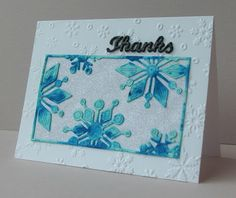 GG Creations: Winter Thank You Card #SSSFAVE