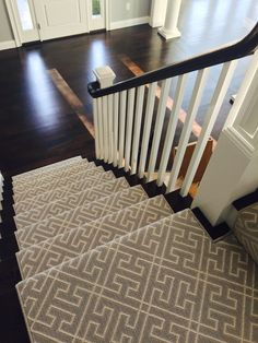 Our amazing stair runner from Stanton