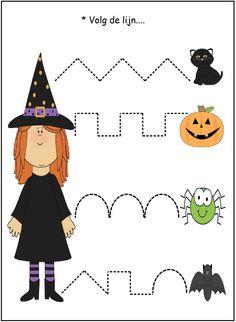 * VBS: Volg de lijn.... Disney Halloween, Theme Halloween, Halloween 2018, Scary Halloween, Fall Halloween, Printable Halloween, Halloween Worksheets, Halloween Activities, Halloween Arts And Crafts