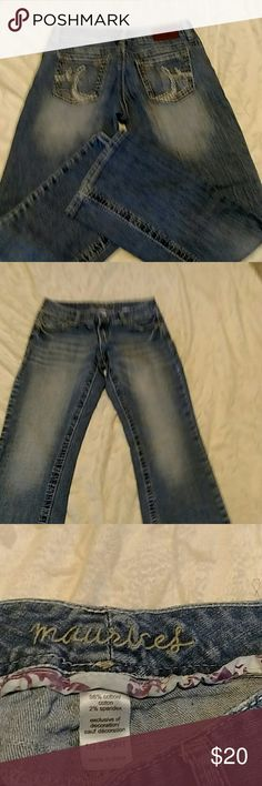 MAURICE JEANS SIZE 1/2 SHORT Maurices jeans, size 1/2 short. In Guc. Maurices Jeans