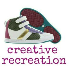 "Creative Recreation ""Dicoco"" Hi-Tops These sleek kicks are the perfect blend of classy and casual, which is the shoe world's ultimate balancing act. Think of the Creative Recreation Dicoco women's athletic inspired shoes as your own personal piece of footwear nirvana.You'll not only feel it in your soul, but in your sole! White / purple / military / fuchsia. Leather upper and rubber sole. Worn once. Creative Recreation Shoes"