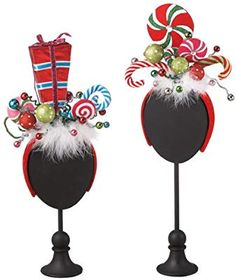 Christmas Headbands - Candy Headbands - Set of Two Midwes. Grinch Party, Le Grinch, Grinch Christmas Party, Tacky Christmas, Office Christmas, Christmas Costumes, Christmas Holidays, Holiday Fun, Holiday Crafts