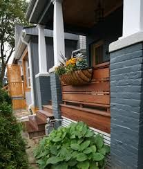 This is the front porch design of our Leslieville, Toronto project. After having completed most of the interior of the house, the exterior didn't really fit with the rest of the renovation. Ipe Wood, Front Porch Design, Brick Facade, Home Reno, Toronto, Exterior, Outdoor Structures, House, Image