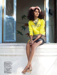 Lais Ribeiro by Garance Doré for Vogue Brazil November 2012