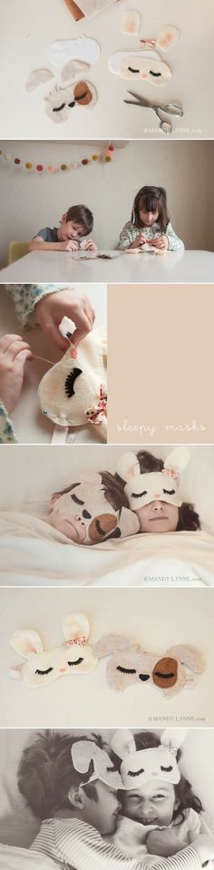 DIY sleep masks for the kiddos Felt Crafts, Diy And Crafts, Crafts For Kids, Diy Projects To Try, Sewing Projects, Diy With Kids, Ideias Diy, Sleep Mask, Diy Gifts