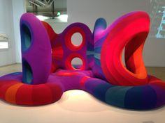 Brad B's discovery at Centre Georges Pompidou in Saint-Merri, France - Verner Panton sofa Game Cafe, Moonage Daydream, Retro Color, Light And Shadow, Pantone, Bean Bag Chair, New Homes, Interior Design, Outdoor Decor
