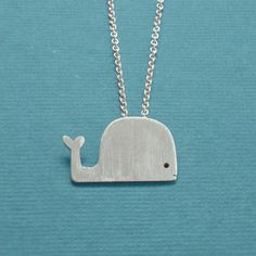 Whale pendant - sterling silver. $15 from the sale goes to National Wildlife Federation Clean Up Fund. See link associated with this pin for further details.