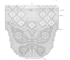 caminho de mesa de crochê com grafico de borboleta 2